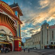 17/11/2012. Luna Park at night, twilight. Luna Park celebrated it's 100th birthday on 13th December 2012..Picture By Craig Sillitoe.